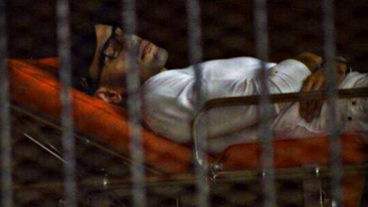 Mohamed Soltan during his hunger strike in Egypt