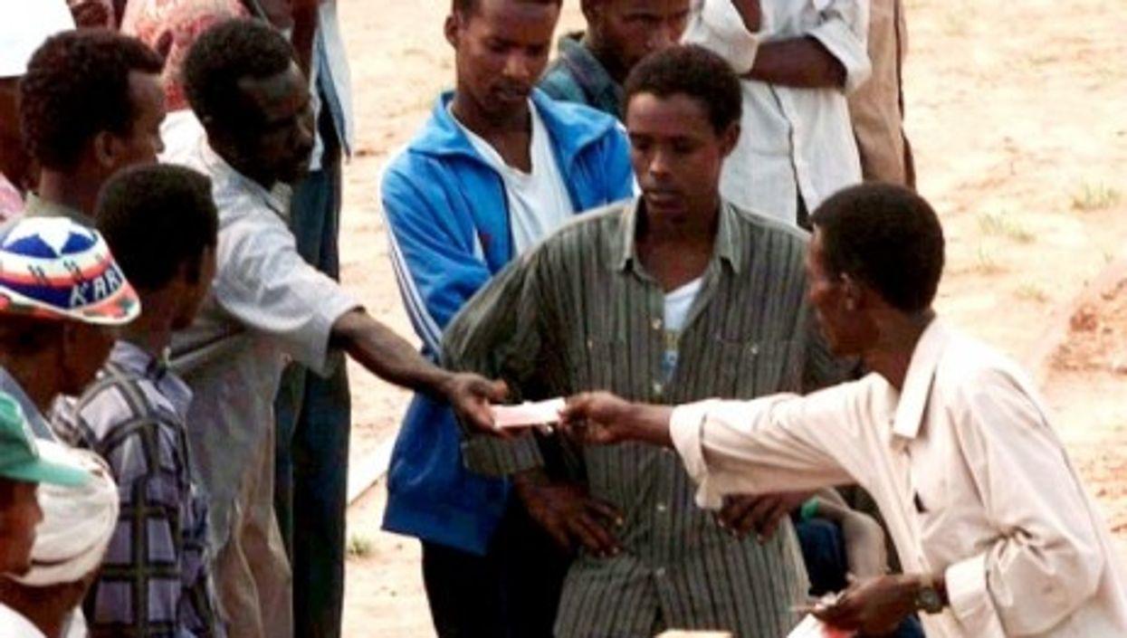 Money changing hands in Somalia