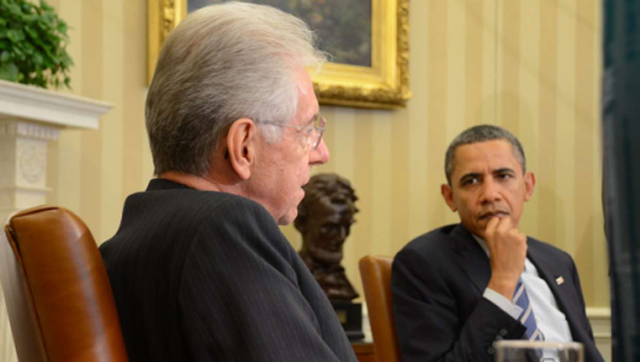 Monti and Obama last week at the White House.