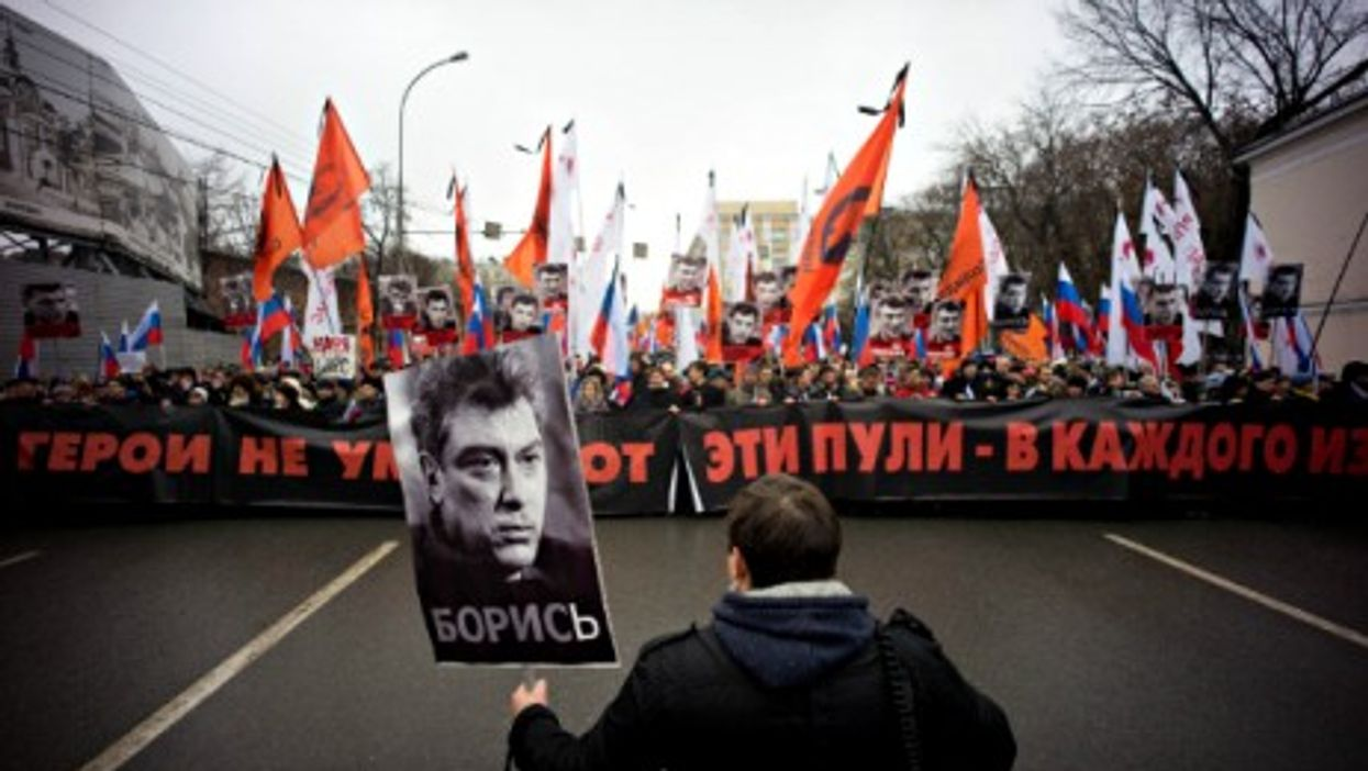Moscow march in memory of Boris Nemtsov on March 1