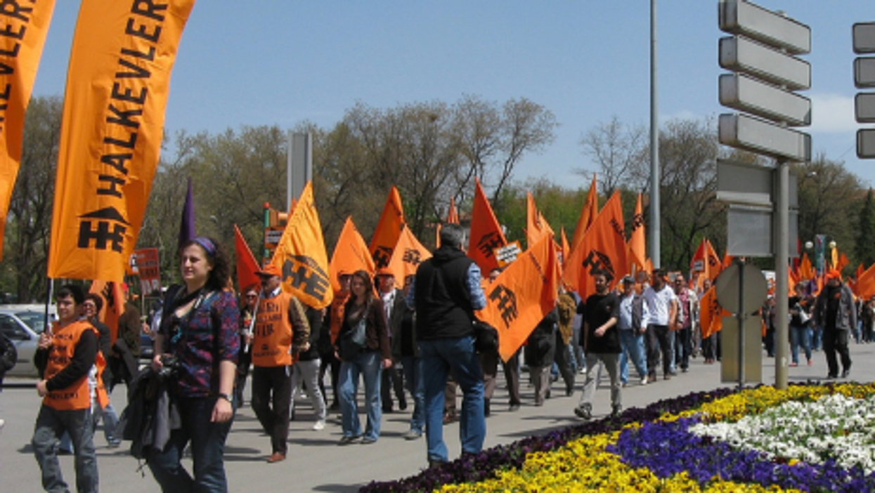 Most protests in Ankara, like this one last year, have been peaceful