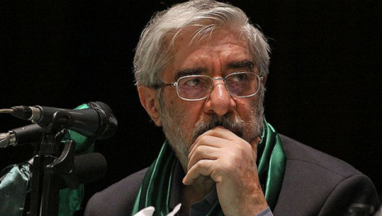 Mousavi in a photo from the 2009 campaign