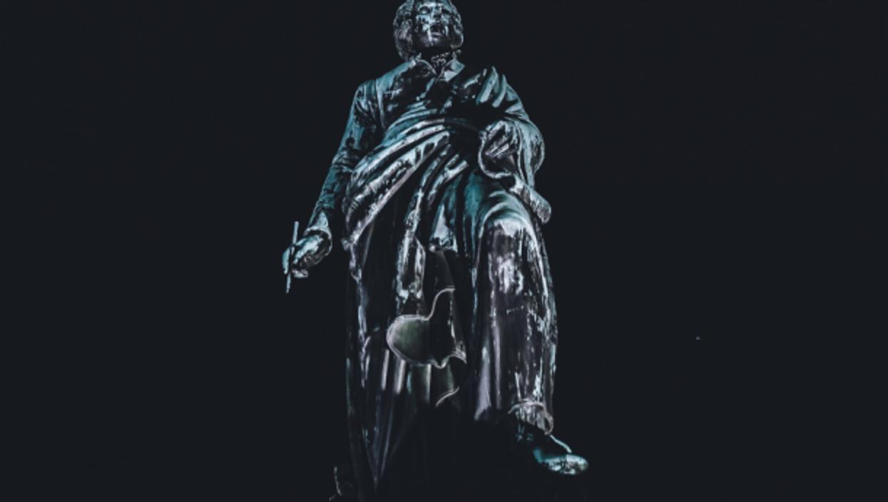 Mozart statue in Salzburg, Austria
