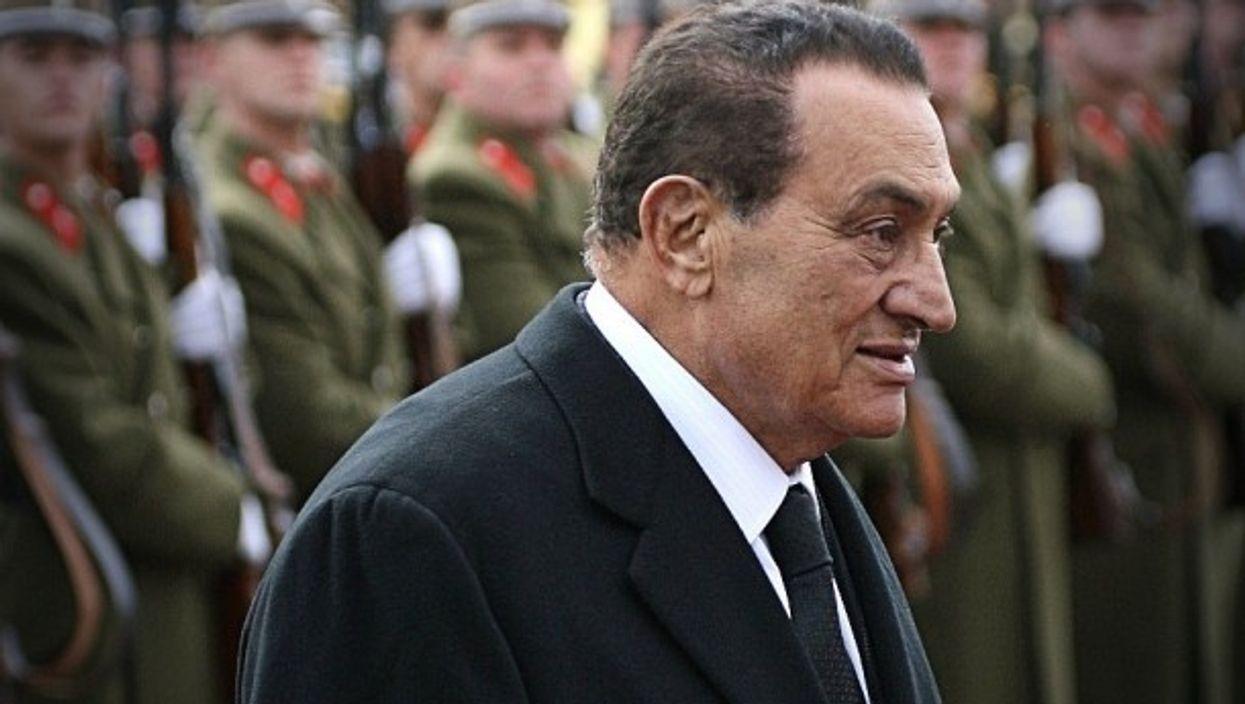 Mubarak in Budapest in 2009