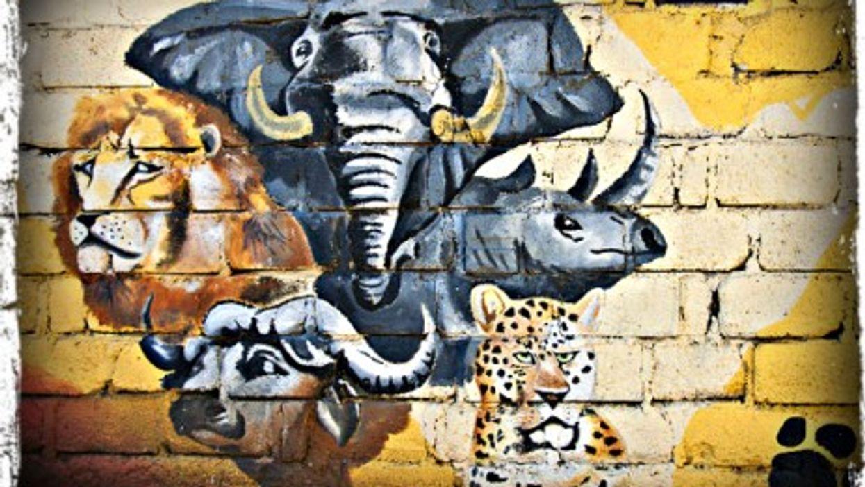 Mural in Nanyuki, Kenya