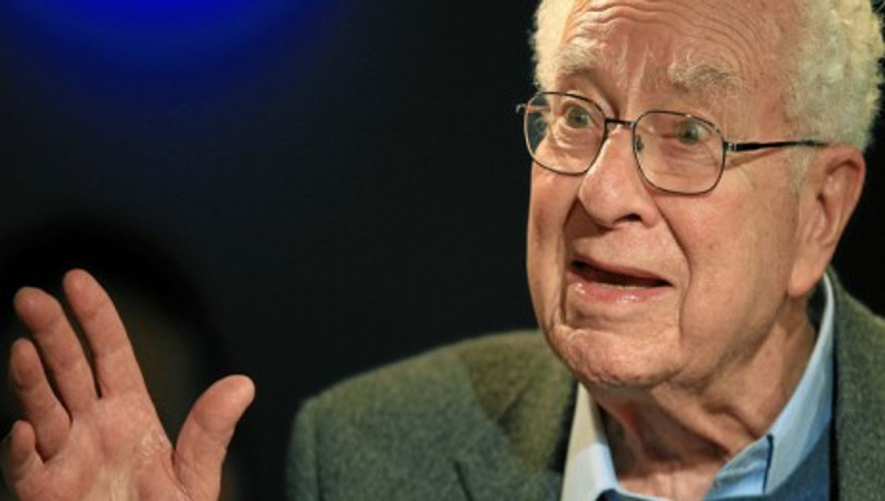 Murray Gell-Man at the Annual Meeting 2012 of the World Economic Forum in Davos.