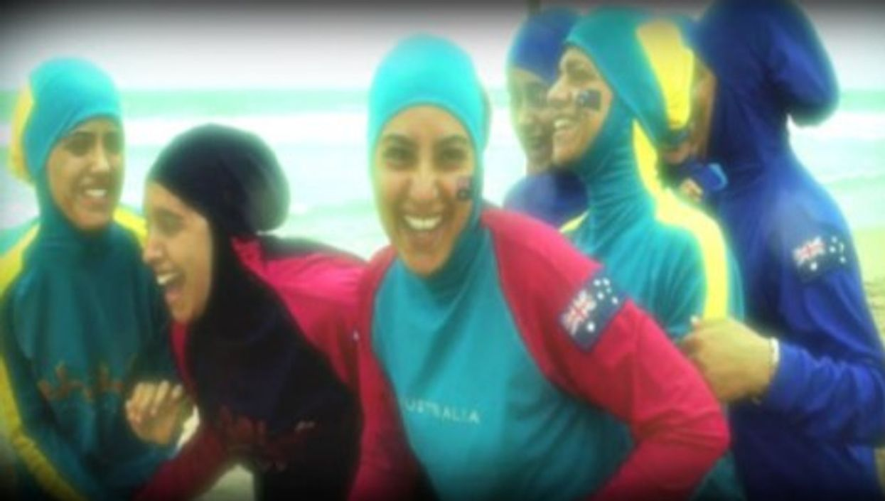 Muslim girls in Burkinis