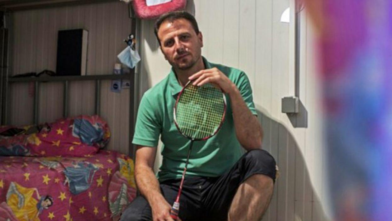 MustafaAwad, from Idlib, is a national badminton champion.