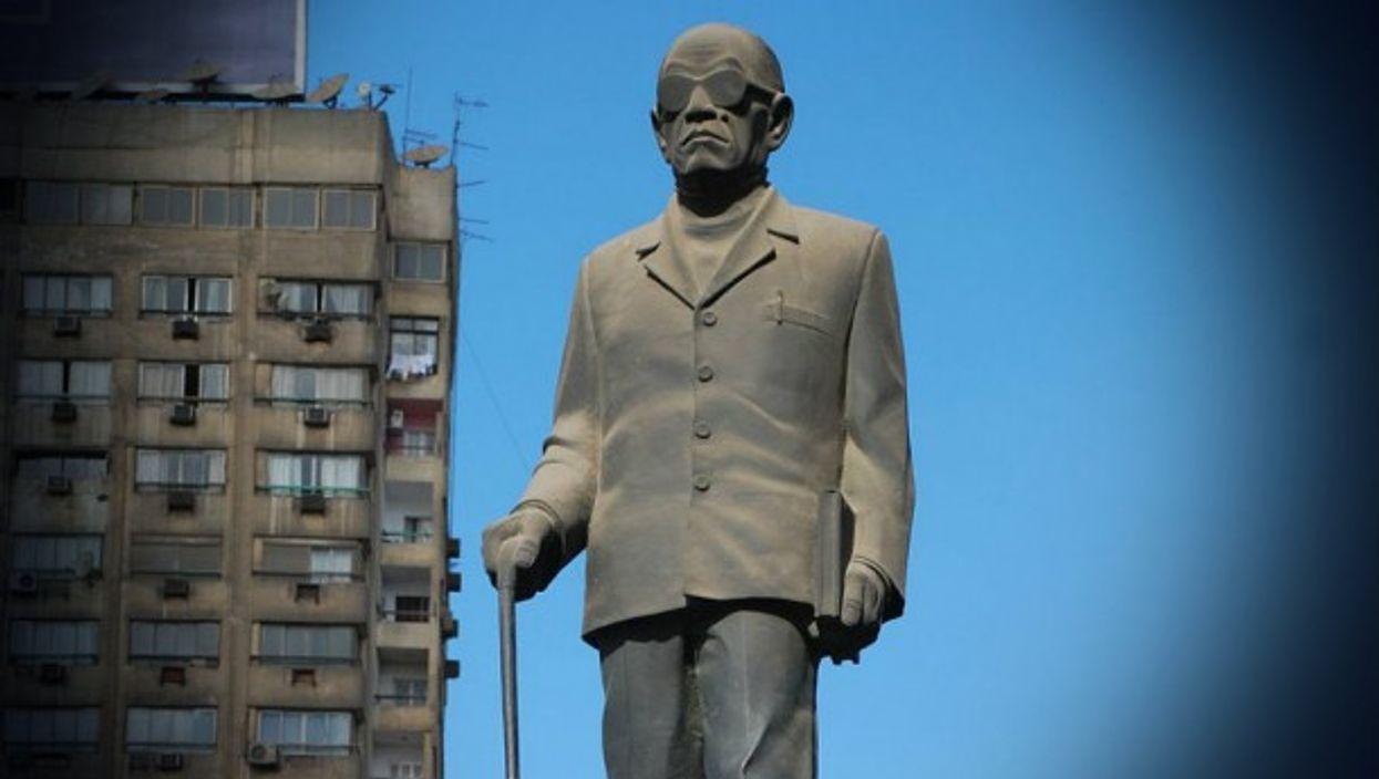 Naguib Mahfouz statue in Cairo