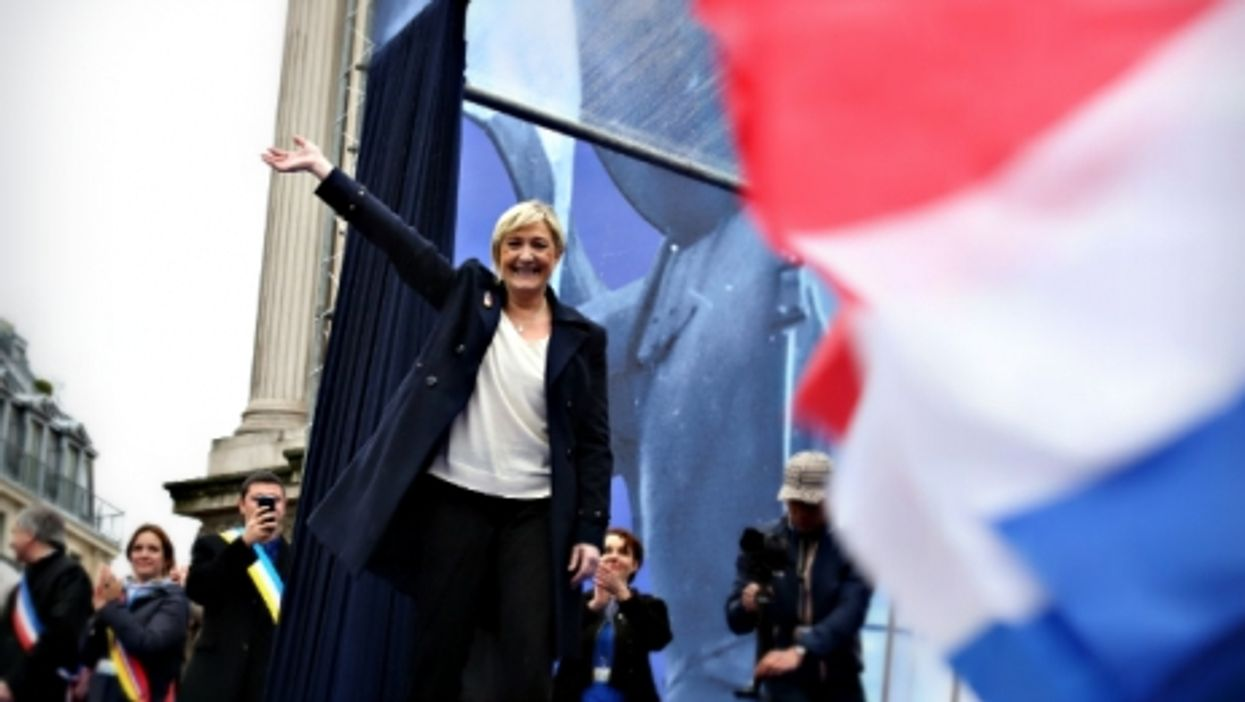 National Front leader Marine Le Pen in Paris in May 2015