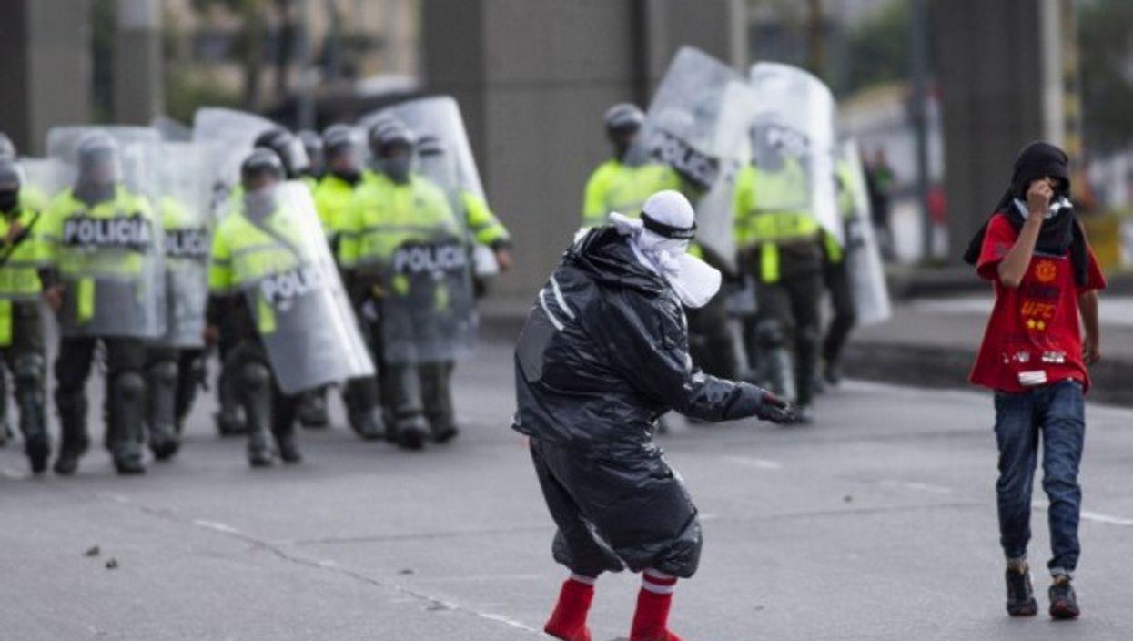 National strike in Bogota, Colombia on Jan. 16, 2020.
