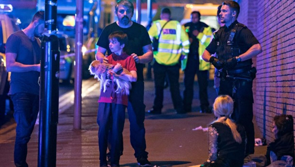 Near Manchester Arena on May 22