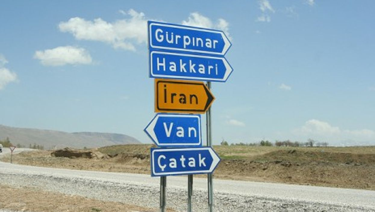 Near the Iran-Turkey border