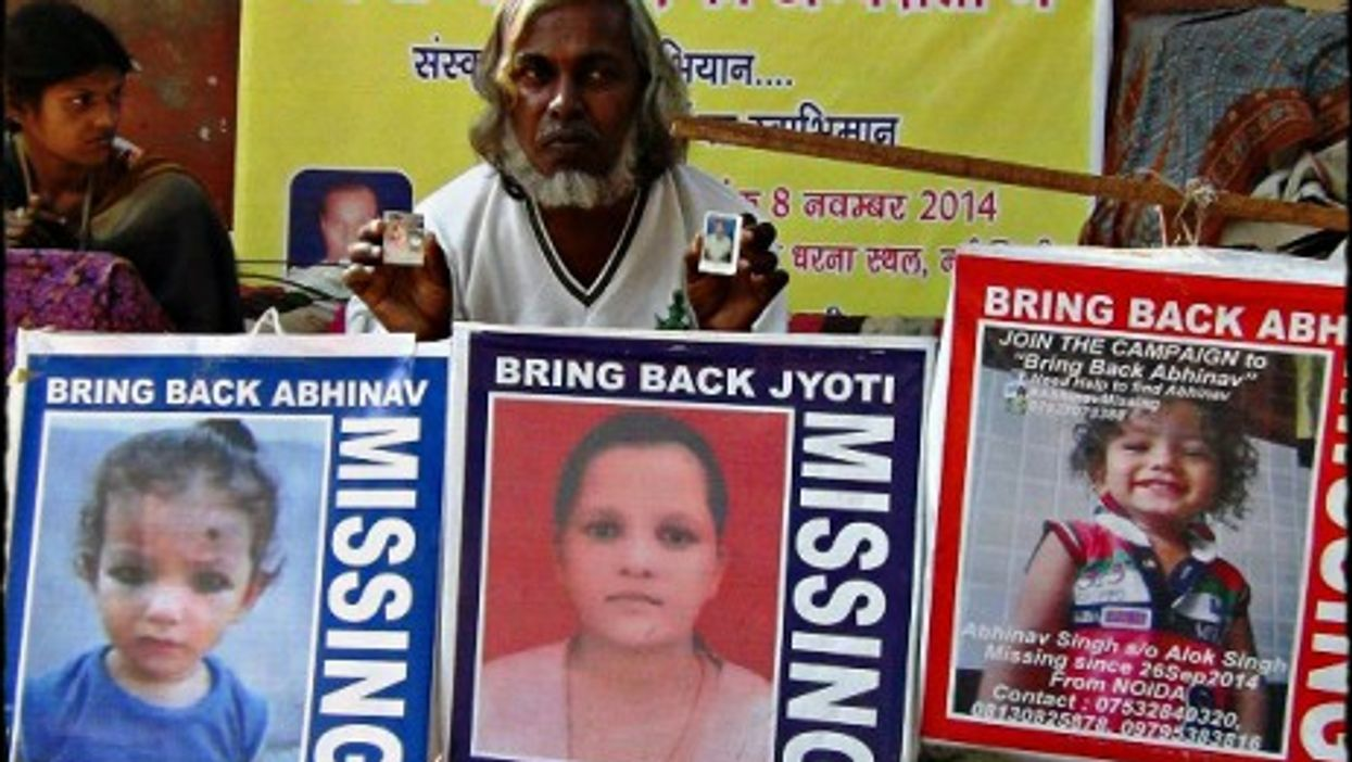 Nearly half of India's missing children remain untraced.