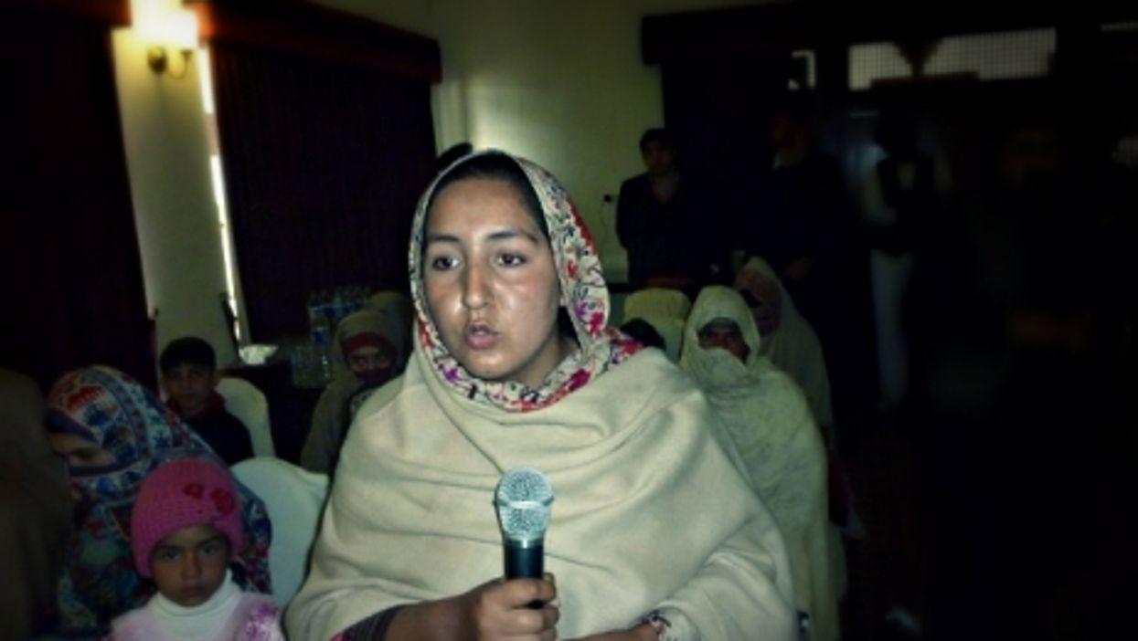Neelam Ibrar Chattan speaking at an International Women's Day event