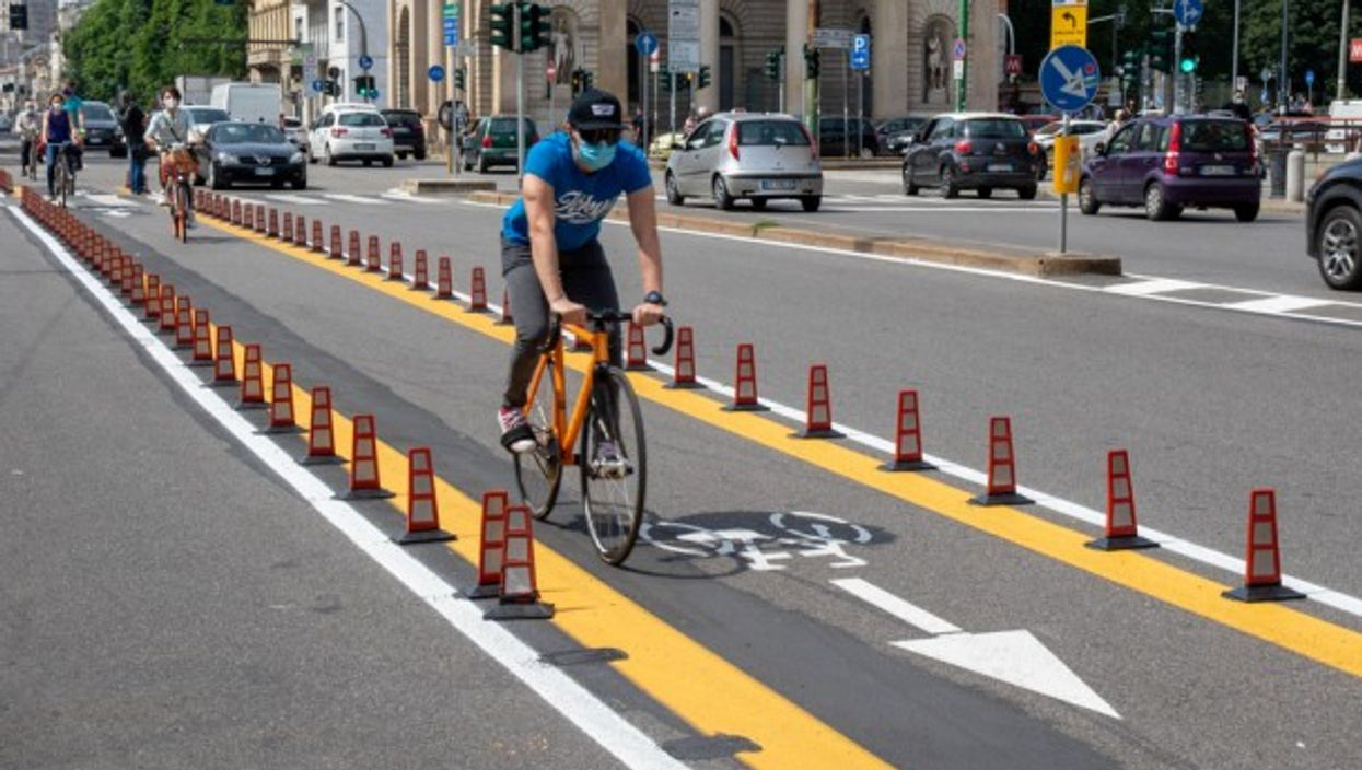 New cycle path in Milan
