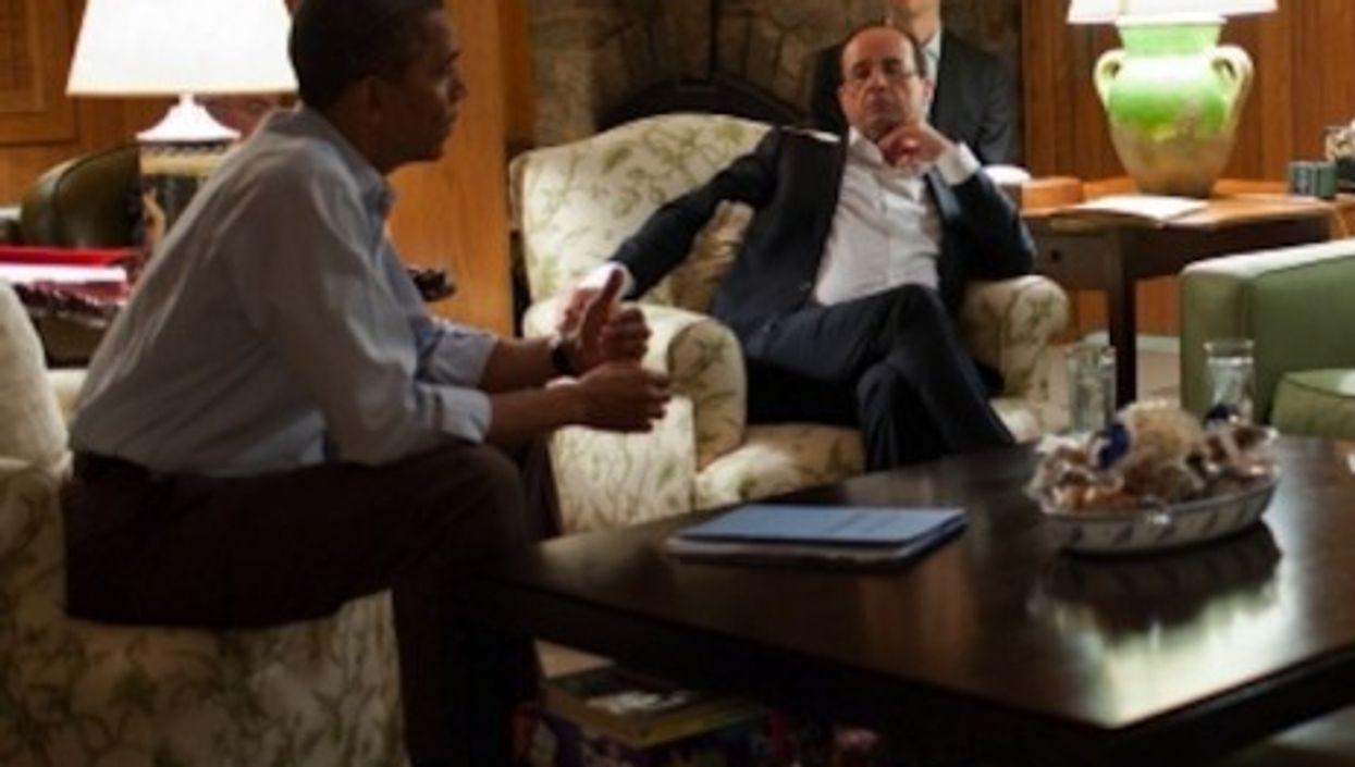 New pals: Barack Obama and François Hollande (whitehouse.gov)