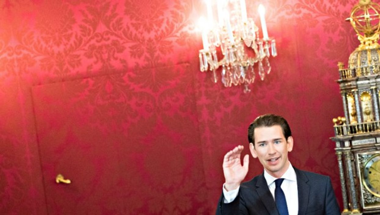 Newly elected Austrian Chancellor Sebastian Kurz