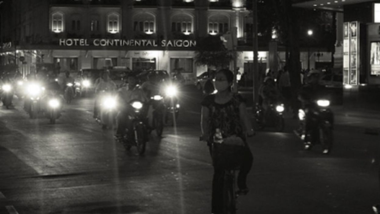 Night view of the Continental