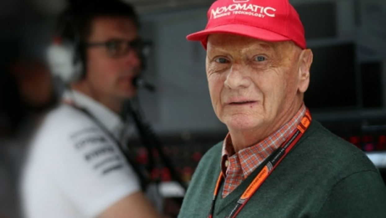 Niki Lauda last year at the Russian Grand Prix in Sochi