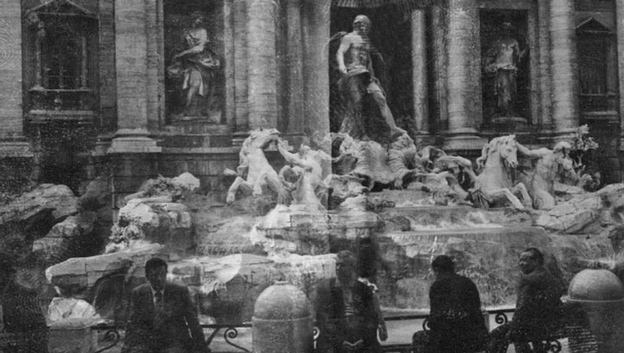 No coins to toss in the Trevi fountain