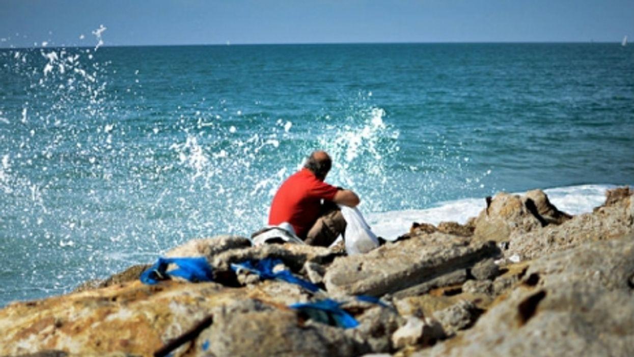 No shortage of seawater in Tel Aviv.