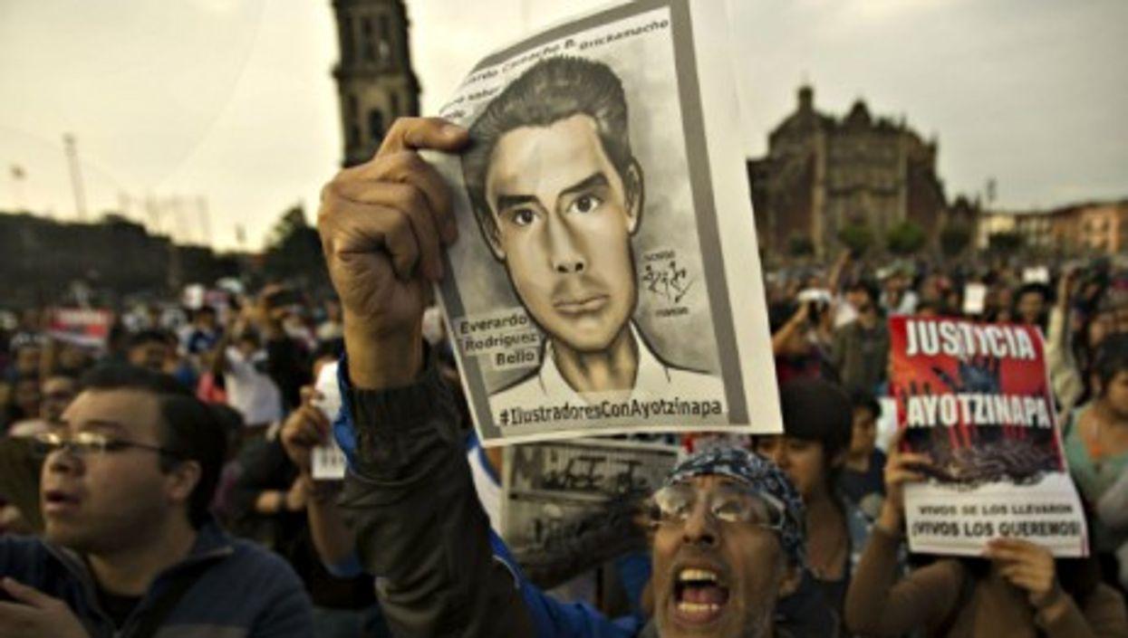 Nov. 9 protests in Mexico's Zocalo square