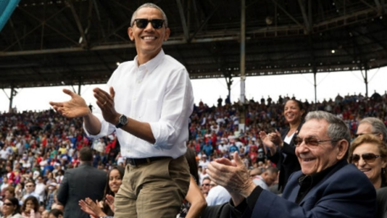 Obama and Cuban President Raul Castro