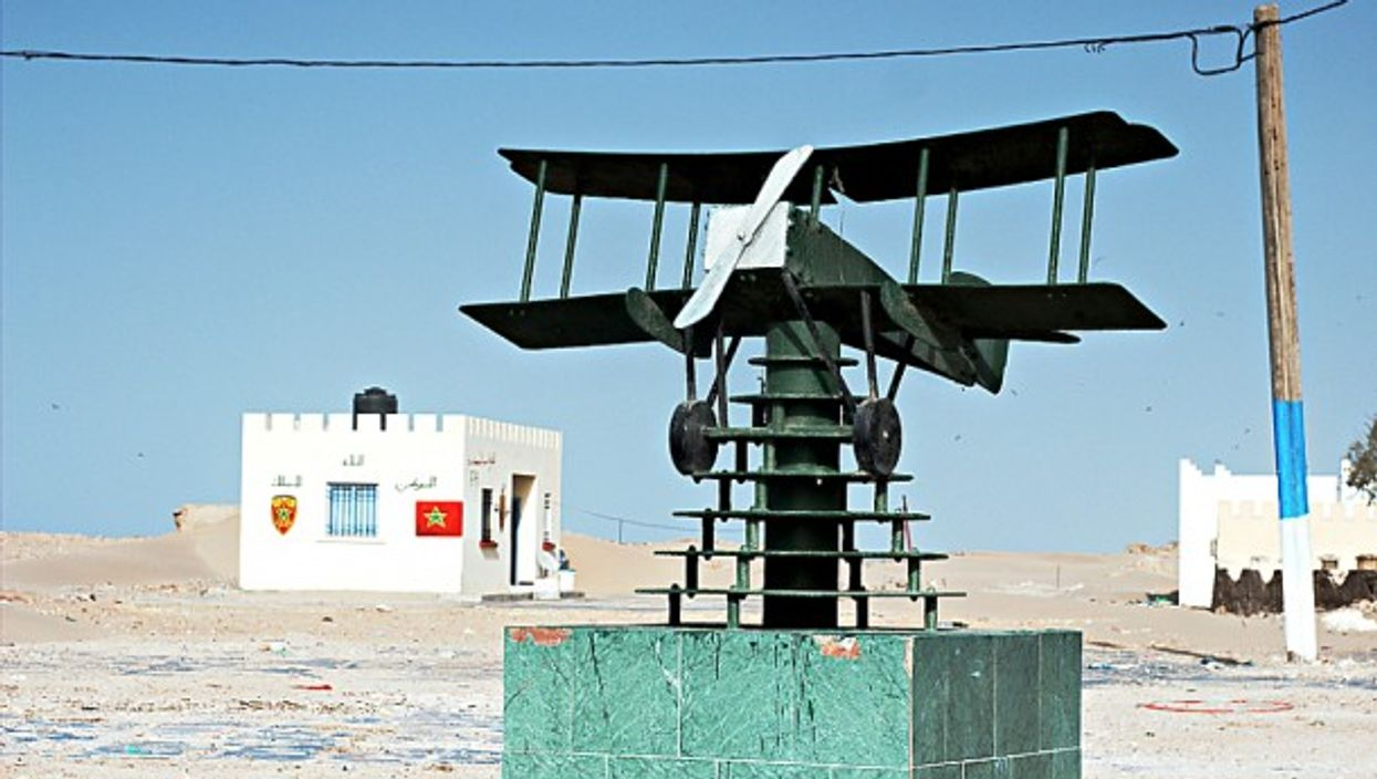 Ode to Saint-Exupéry at Cape Juby airport in Tarfaya, Morocco.