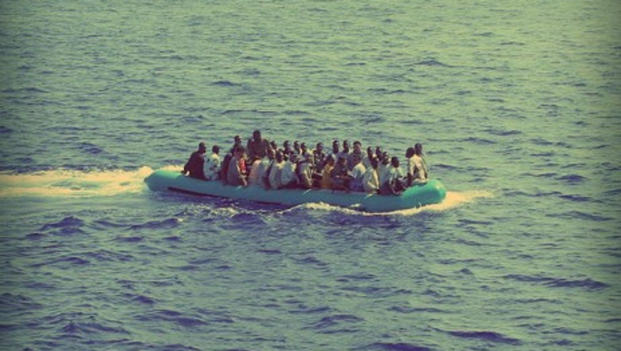 Off the coast of Lampedusa