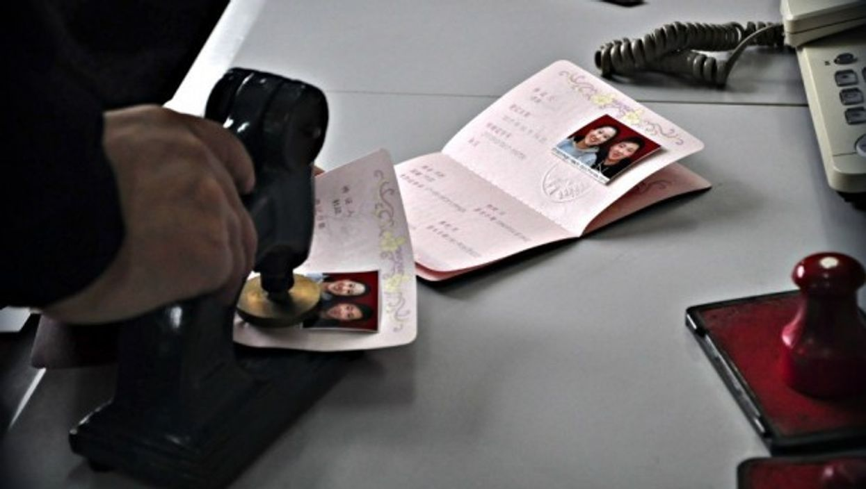 Official marriage documents in Liaocheng, China