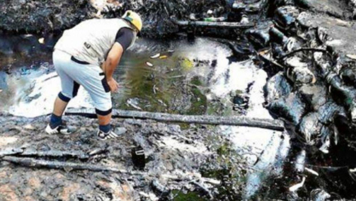 Oil reaching Amazon waters.