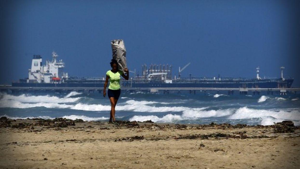 Oil tanker off the Venezuelan coast