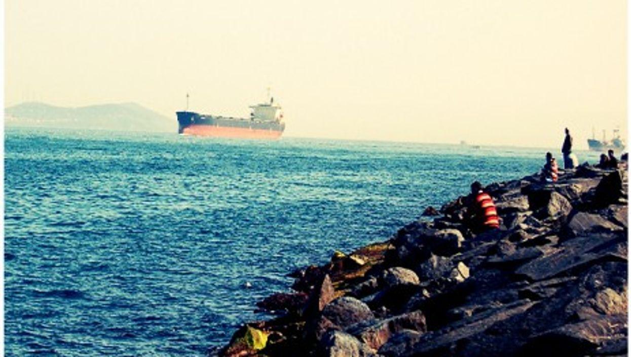 Oil tankers in Istanbul