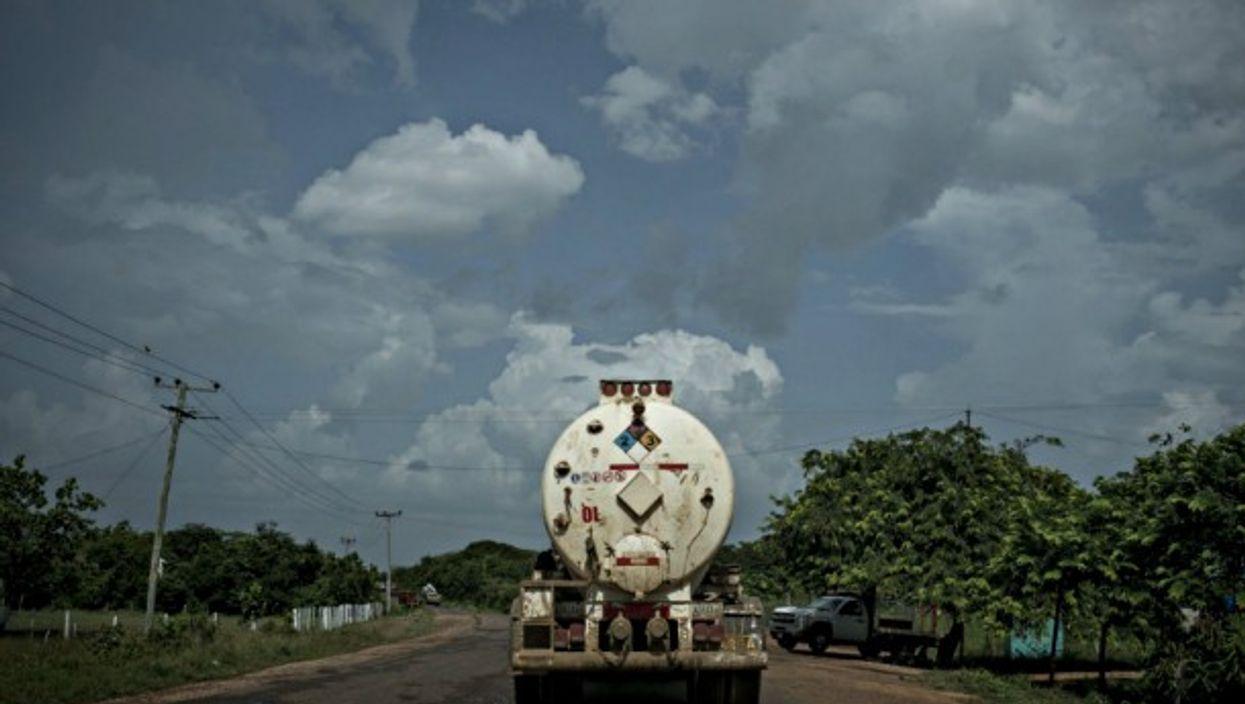 Oil truck in Zuata, Venezuela
