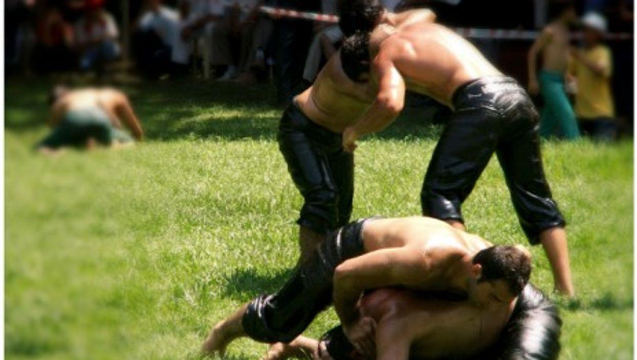 Oil wrestling tournament in Istanbul