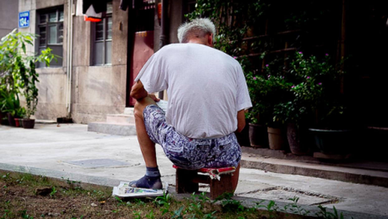 Old man in Guangzhou