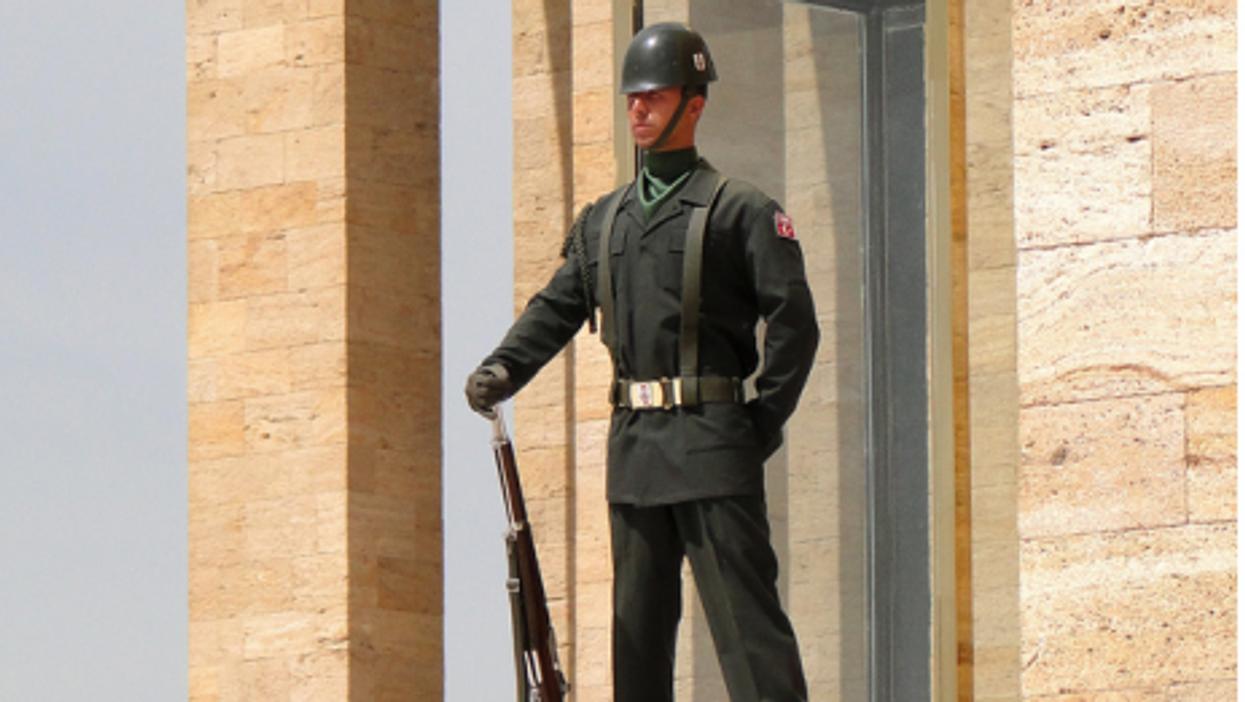 On guard at mausoleum of modern Turkey's founder Ataturk (Adam Jones)