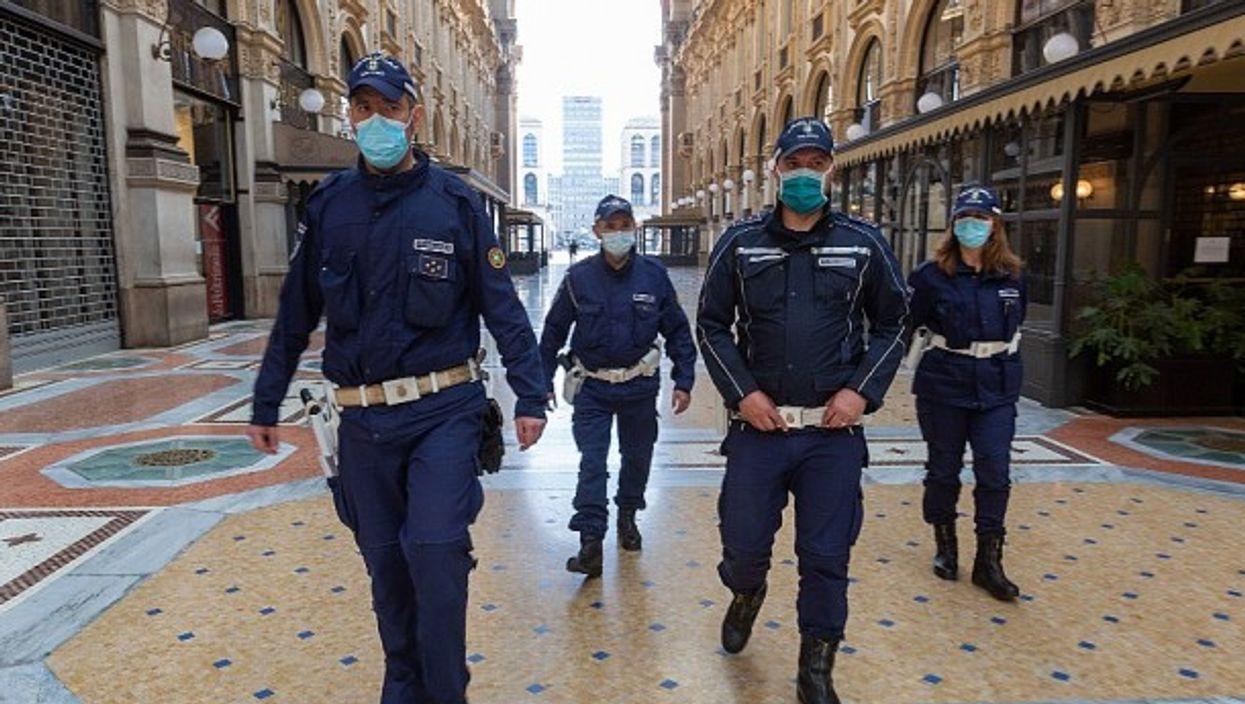 On patrol in Milan, April 23