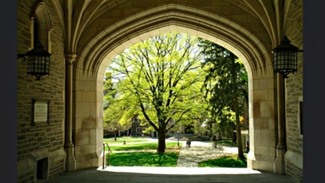 On the campus of Princeton University in New Jersey