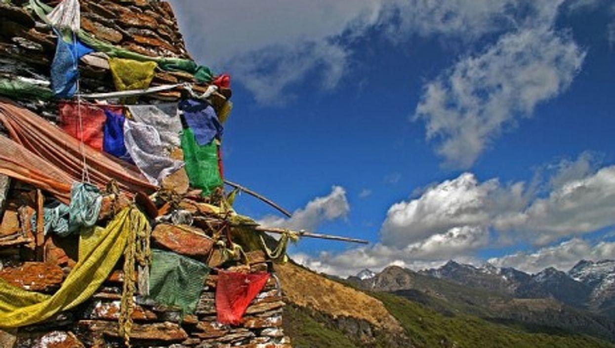 On the Druk Path Trek between Timphu and Paro in Bhutan
