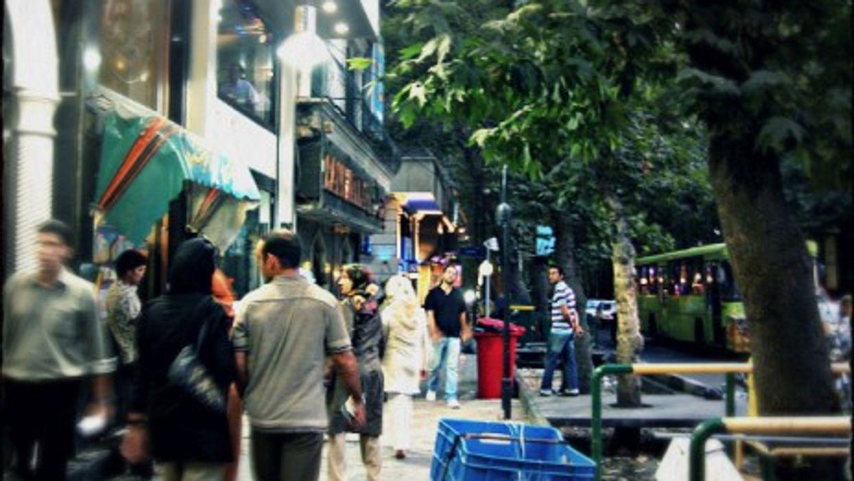 On Valiasr Street, Tehran's longest avenue.