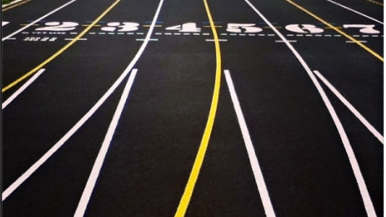 On your mark...what a clean track looks like