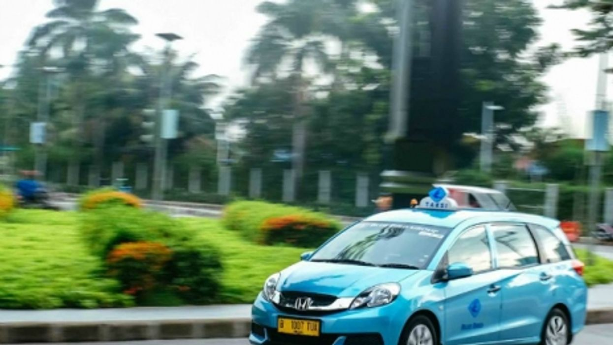 One of Indonesia's thousands of Blue Bird taxis