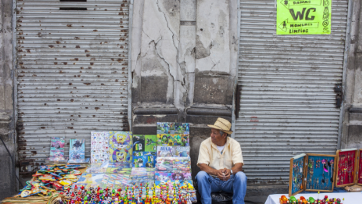 Open markets in Mexico City