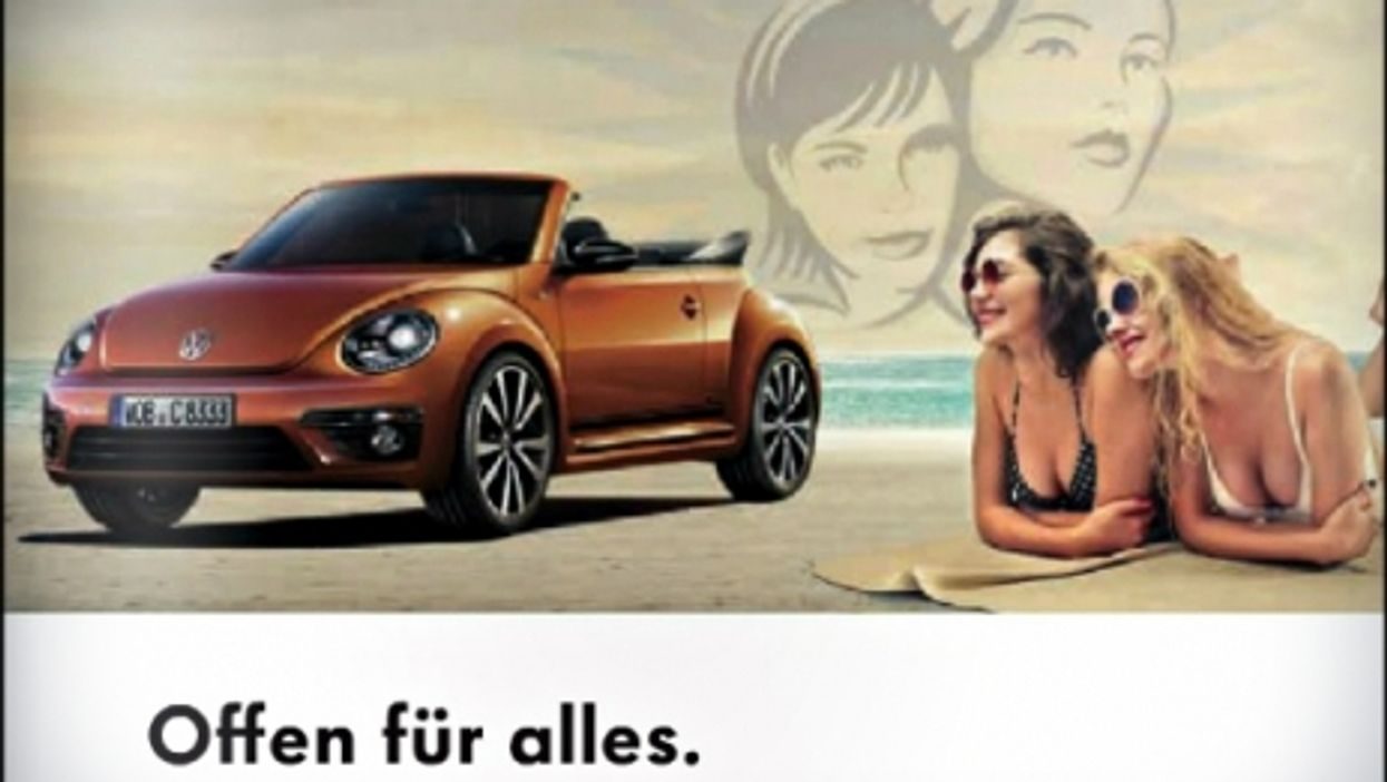 """""""Open to all,"""" reads this Volkswagen ad targeting lesbian couples."""