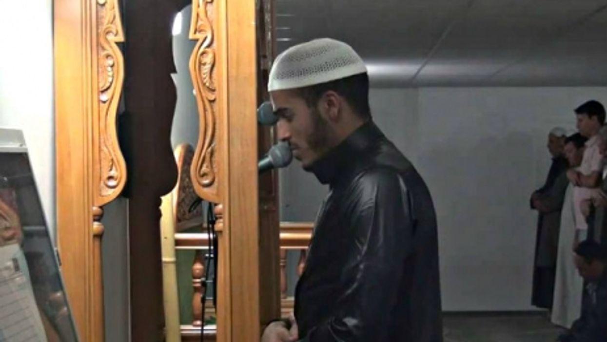Osama Khallouf leads prayers