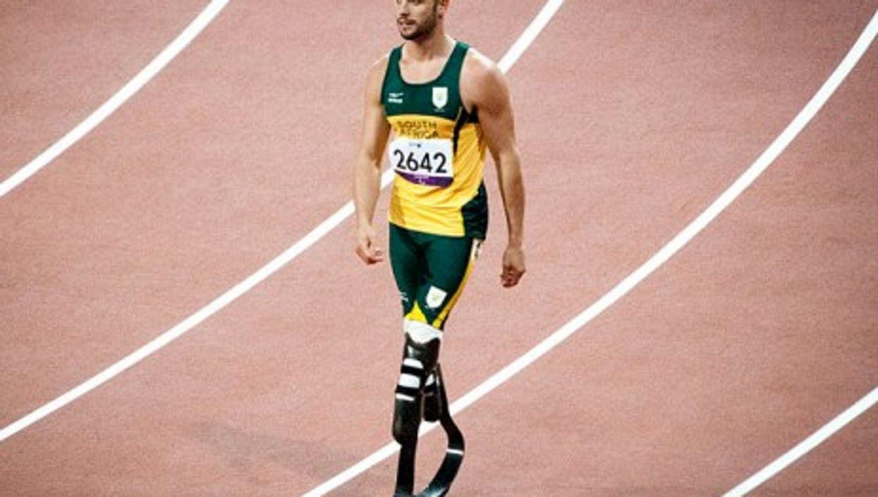 Oscar Pistorius at the 2012 London Paralympics