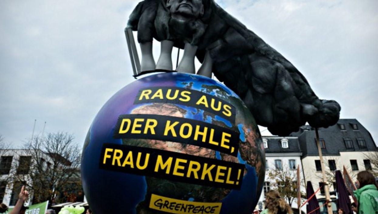 'Out with coal, Frau Merkel'