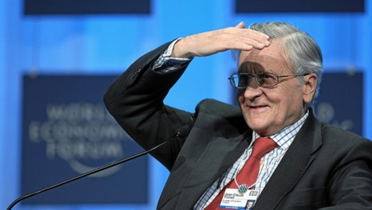 Outgoing European Central Bank chief Jean-Claude Trichet